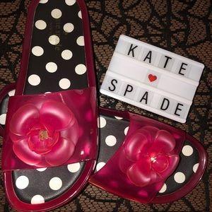 Kate Spade ♠️ Jelly Slides Size 9
